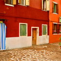 Plaza on Burano, Italy