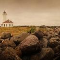 Point Wilson Lighthouse Panorama at Sunrise