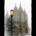 Snowfall, Salt Lake City Temple