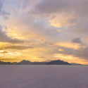 Salt Flats at Sunset